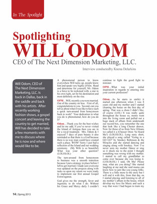 Spotlight Will Odom