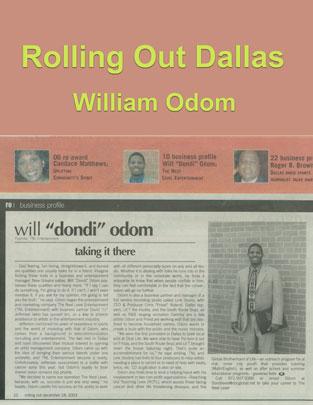 Mr. Will Odom in Rolling Out Dallas